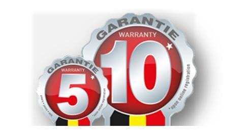 10 jaar garantie op FRITEL